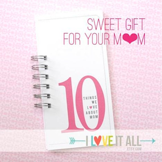 Mother Birthday Gift . 10 Things Love About MOM Mama Momma Mommy Birthday Card . DAD Father Daddy Coupon Book What I Love About You