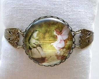 Frog Bracelet Fairy Bracelet Green Frog Bracelet Whimsical