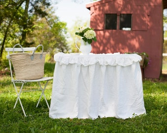 Tablecloth- 34x34 floor length card table tablecloth