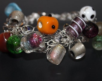 Handcrafted Multi Color Glass Beads Bracelet