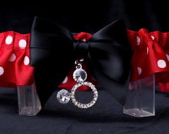 Minnie Handmade Couture Style Fairytale Bridal Garter Custom Made