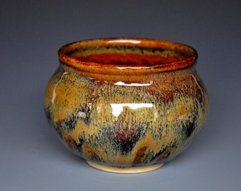 Stoneware Tea Bowl Chawan Burnt Sienna  B