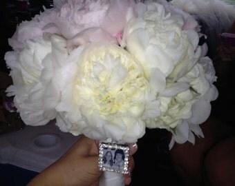 Wedding bouquet charm-memorial bouquet charm-Photo bouquet charm-Wedding Bouquet Rhinestone Photo Charm-Bouquet charm-memorial photo charm