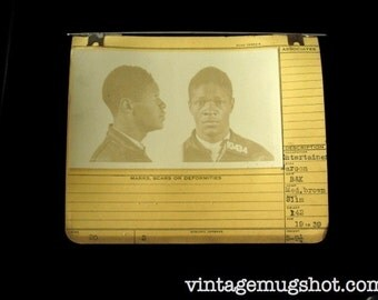 1939 MUG SHOT Allegheny  County  Pa Police 19 year Old Entertainer Criminal Booking Photo