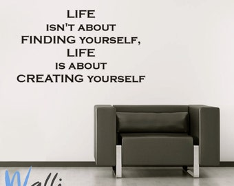 Create yourself wall decal quote