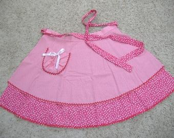 Handmade Layered Pink Apron