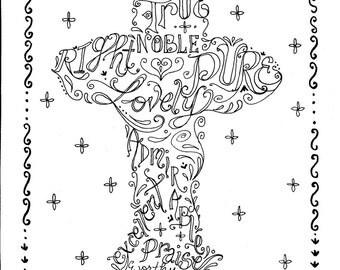 Cross Instant Download Printable Art Scripture Christian Print