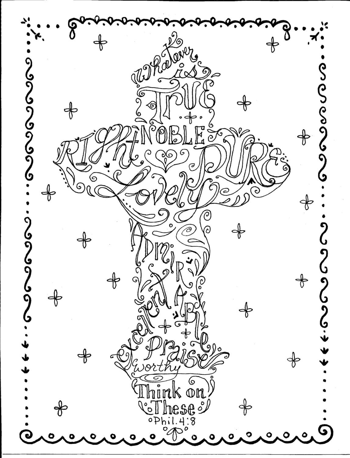 Divine image throughout cross coloring pages printable
