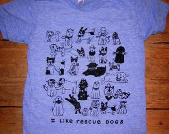 Rescue Dogs Blue Tri Blend Baby Tshirt