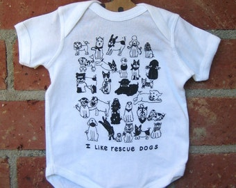 Rescue Dogs Baby Bodysuit
