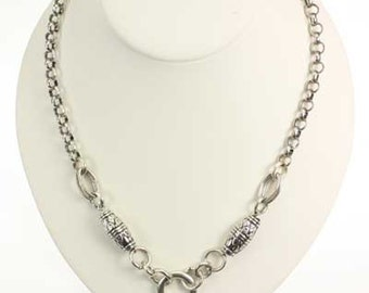 "18"" Silver Chain Link Necklace"