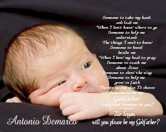 Asking To Be Godmother/Godfather/Godparents Could That Someone Be You Personalized Poetry Print