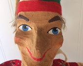 Vintage hand-carved Christmas puppet, Punch & Judy