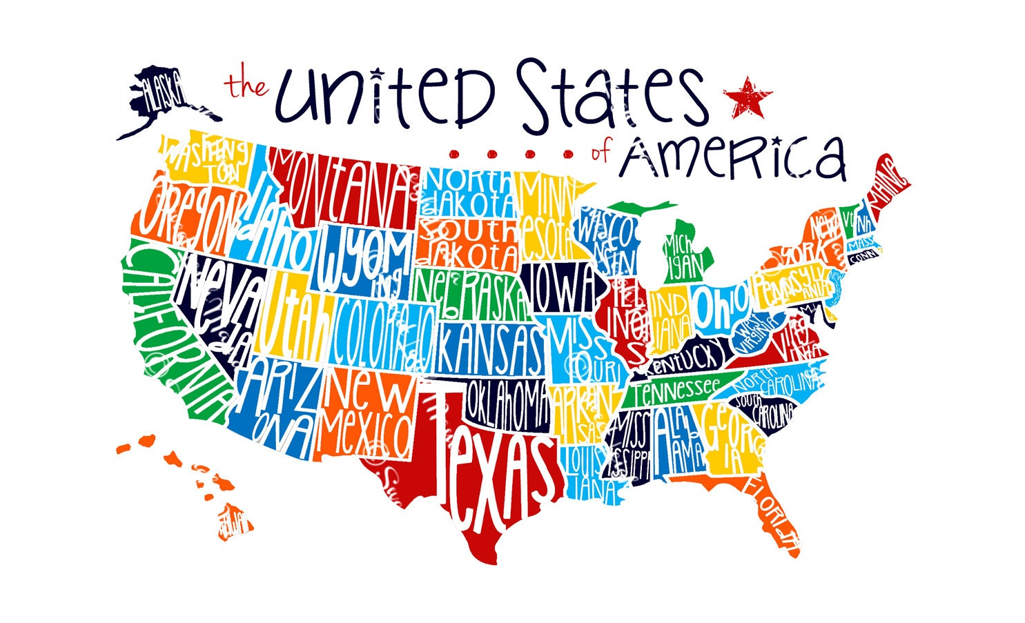 United States Map With Names Map Of The Usa States With Names