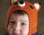 Child's Foxy Knit Hat, Halloween costume
