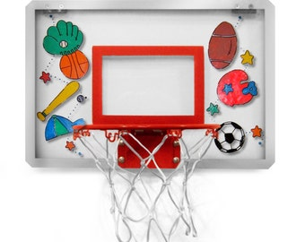 Personalized Over the Door Basketball Hoop with Ball- New Design Lucite See First 2 Photos