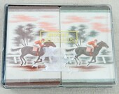 Vintage Horse Racing jockey Playing Cards with case 2 sets