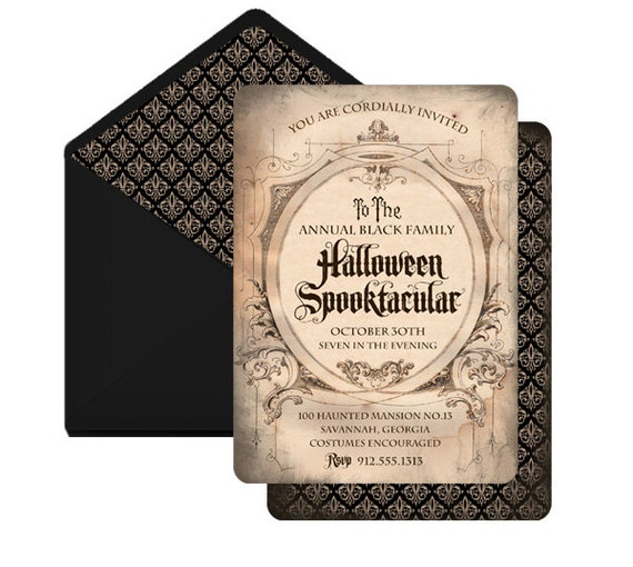 Haunted Mansion Personalized Invitation by Loralee Lewis