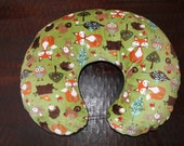 boppy cover, boppy cover all minky boppy cover, forest friends boppy cover- Ships Today