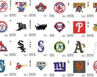 major league baseball embroidery designs.. instant download