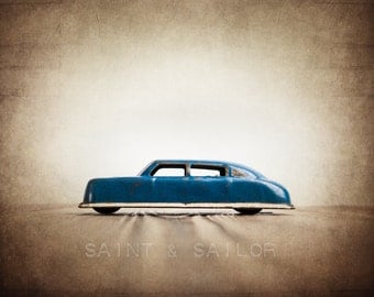Vintage Classic Argo Solid Blue car, One Photo Print, Boys Room decor, Vintage Car Prints