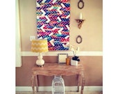 Create your own Colorful Chevron or Herringbone Pattern Painting. Pick your own colors and canvas size to make the perfect piece for you.