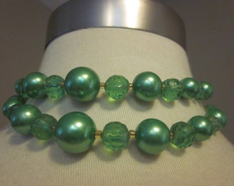 Green With Envy - Vintage Double Strand Green Necklace