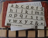 Brand New Unmounted Classic Alphabet Wooden Stamps
