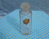 RESERVED for Sera 1960's Glass Perfume Bottle with Label