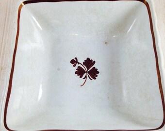 Vintage Wilkinson Tea Leaf Ironstone Serving Bowl