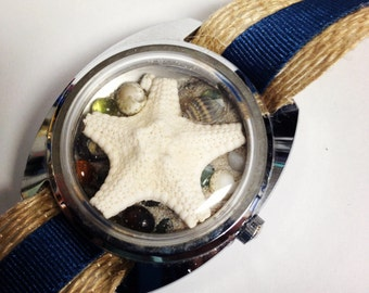 Large White Starfish  Recycled/Upcycled  Beach Watch
