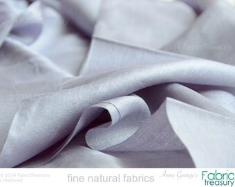 "Silk Fabric. Peace Silk. Ahimsa Silk. Handwoven. Slow Fashion. Natural, organic, fairtrade. 42"" / 106 cm wide. Bluebell's Shadow color."