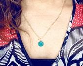 Ivy Green Enamel Locket - Personalized Photo Charm Necklace
