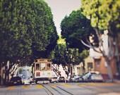 "Cable Car Photography - Trolley Photograph - San Francisco Urban - Travel Home Decor - Fine Art Photography 8x12, 8x10, 8x8 - ""Hyde Street"""
