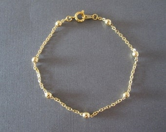 Gold Ball Chain Bracelet / Anklet