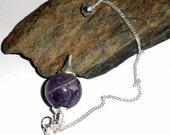 Purple Amethyst Sephoroton Gemstone Pendulum Divination Tool Reiki Wicca