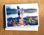 "Wedding CARD ""Mr & Mrs"" Original 6 x 4 Photo Mounted on Nice Thick Card Stock. Still Life, Wedding Card, Sunset, Bride and Groom, Mr, Mrs"