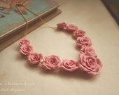Victorian Gargen Rose necklace