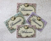 Miniature Welcome Mat or Rug in Your Choice of Color and Wording