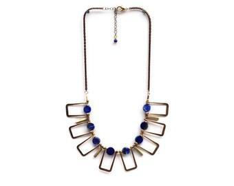 Cayucos Statement Necklace : Sea Sediment Jasper or Lapiz Lazuli