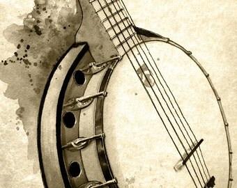 Banjo - weathered print