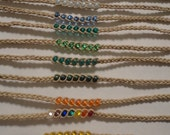 Custom for Danielle - 12 Hemp Beaded Wish Anklet/Bracelet - You Pick Color