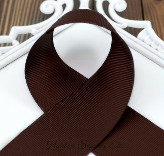 Sepia 2-1/4 inch Grosgrain Ribbon - Chocolate Brown, Regular Brown, Basic Ribbon by the Yard, Cheer Ribbon, Hairbow Supplies, Etc.