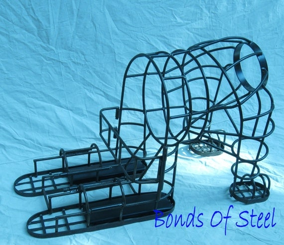 Bonds of Steel Puppy Cage BDSM Restraint Mature Submissive Dominant SM