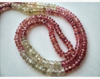 Multi Sapphire Bead/ Sapphire Beads/ Faceted Rondelle Beads/ 5mm Faceted Beads/ 16 Inch Strand