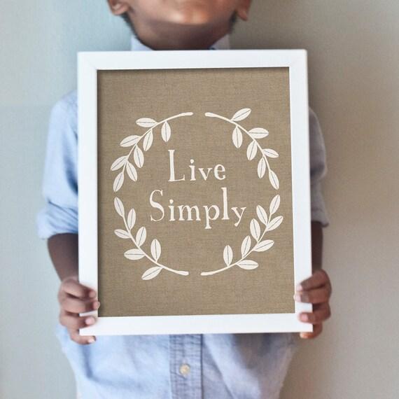 Printable 8x10 Live Simply