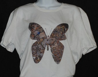 Etsy Exclusive Steampunk Butterfly T Shirt Medium
