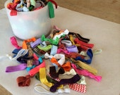 Such A Deal Collection of ribbon elastic hair ties : Grab bag of 25 hair ties
