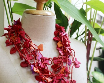 Coconut Shell Beads Necklace - CL1409-10
