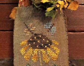 Sunflower Fair Hanging Pouch-Cross Stitch Pattern